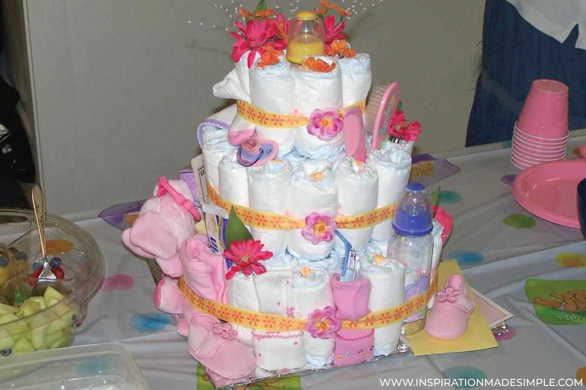 DIY Diaper Cakes for Baby Girls