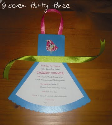 Sneak Peek: Cooking Party Invites