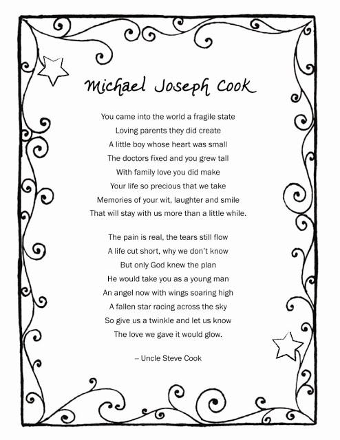 RIP Michael Joseph Cook