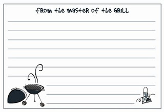 Master of the Grill Recipe Cards