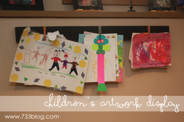 Kids Art Display Board and a BRAINstorm!