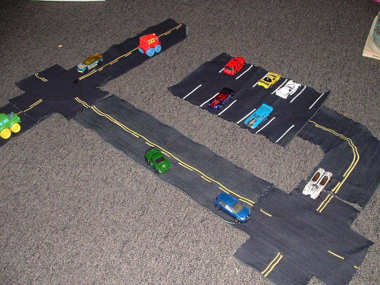 Fun Fabric Roads - Super easy tutorial!