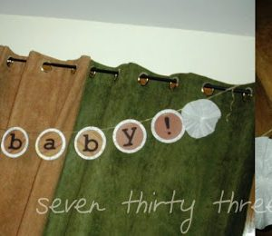 """hello baby! banner with coffee filter """"flowers"""" tutorial"""