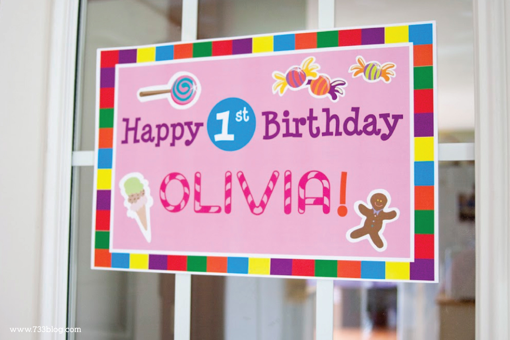 DIY Candy Shoppe First Birthday Party