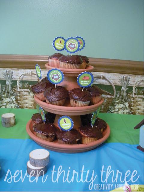Terra Cotta Pot Cupcake Stand