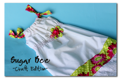 Shirred Pillowcase Dress Tutorial from Sugar Bee Crafts