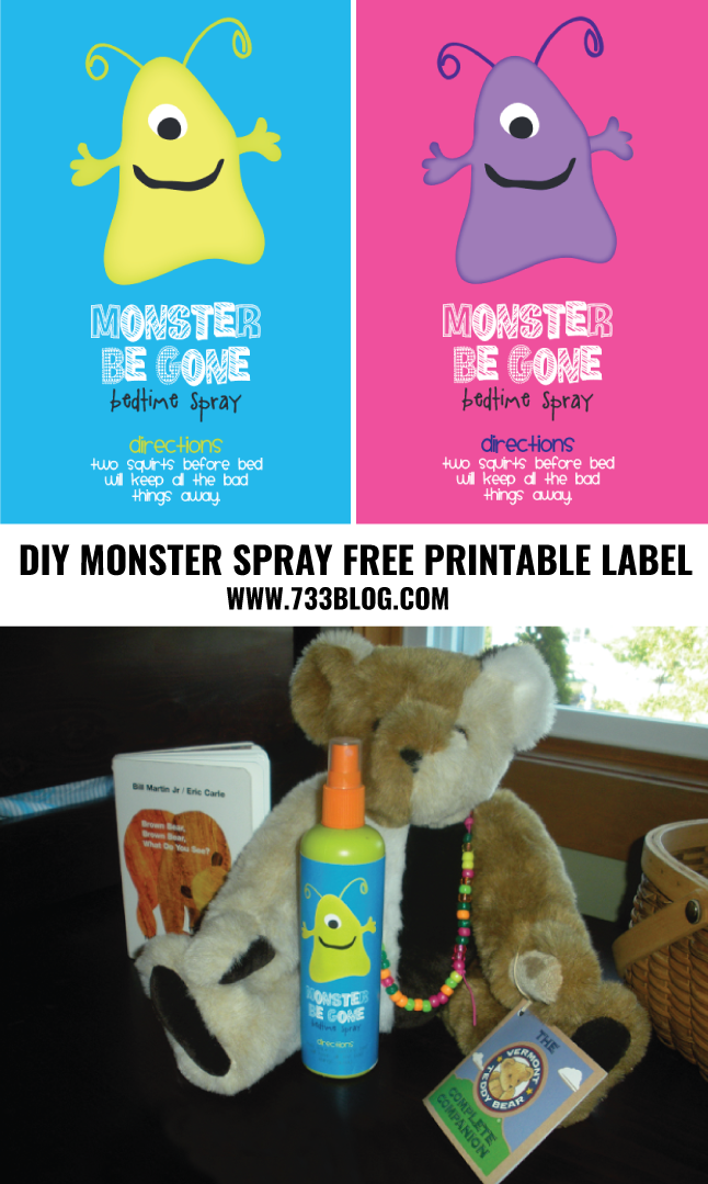 DIY Monster Spray with Free Printable Label