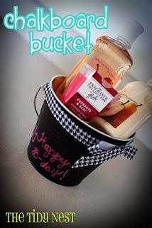 FFF: Chalkboard Bucket