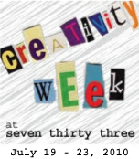 WELCOME TO CREATIVITY WEEK!