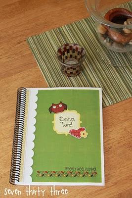 Owl Weekly Meal Planner