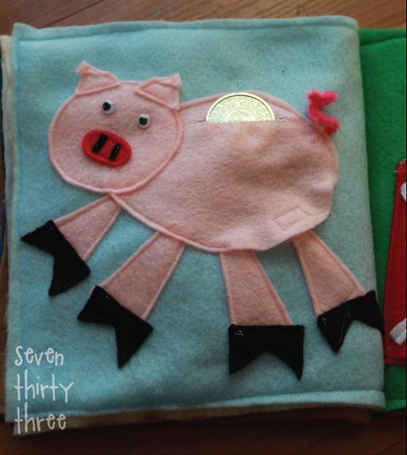 Piggy Bank Quiet Book Page