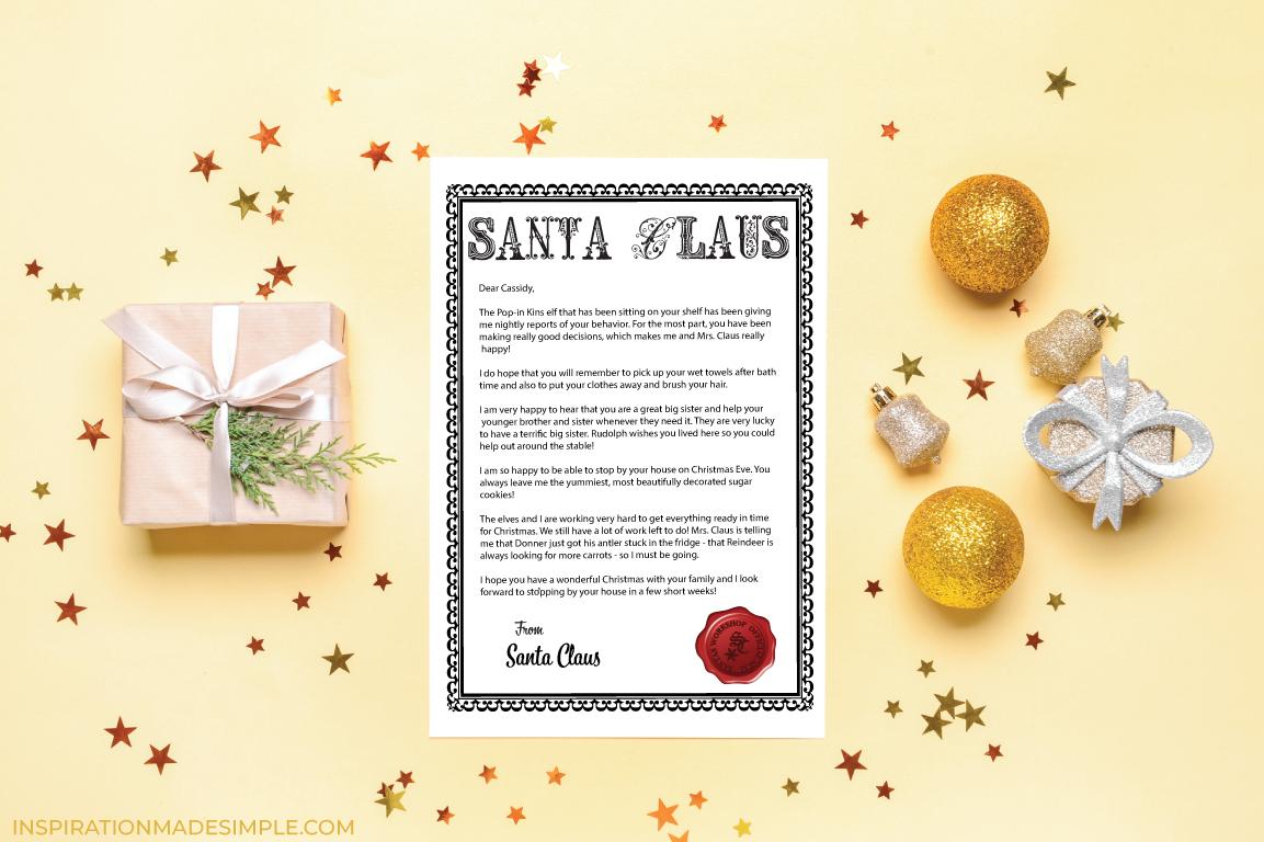 Printable Letter from Santa