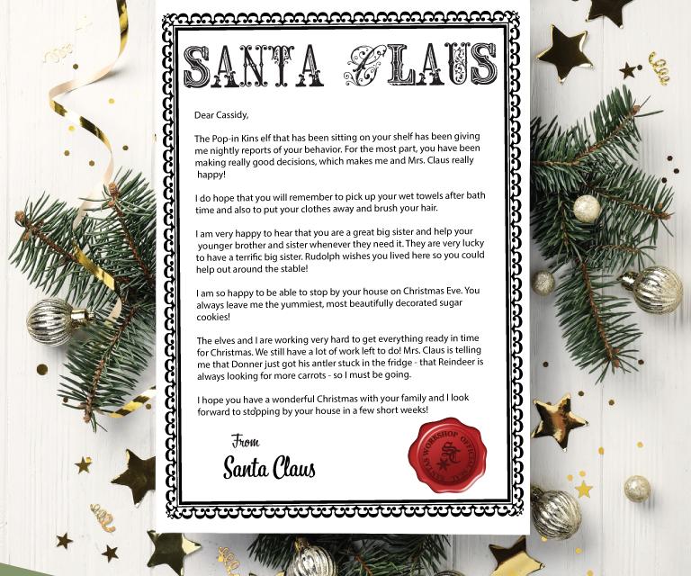 Santa Letterhead Printable
