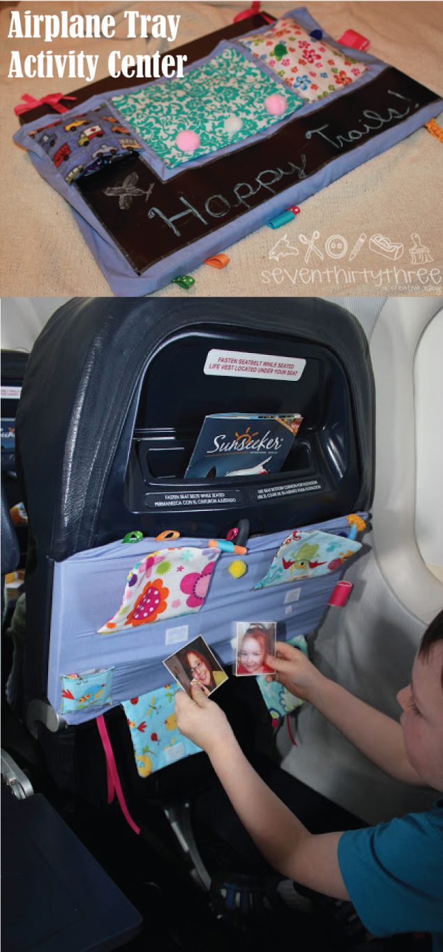 DIY Airplane Tray Cover - Perfect for air travel with kids