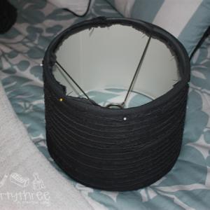 Ruffled Lampshade Tutorial with Ruffled Fabric