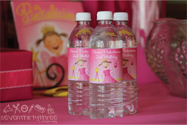 Free Printable Pinkalicious Water Bottle Label