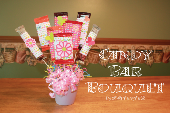 Candy Bar Bouquet Tutorial