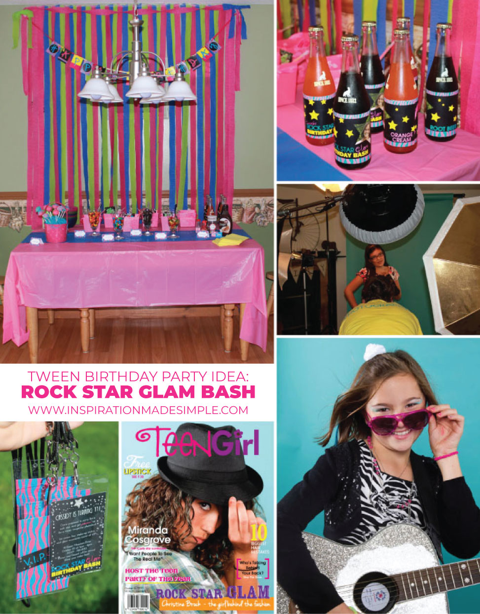 Tween Birthday Party: Rock Star Glam Bash