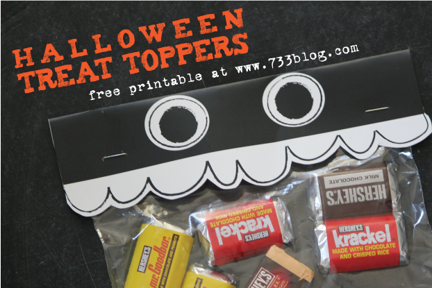 Blast from the Past: Halloween Treat Bag Toppers