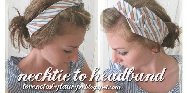 FFF: Necktie to Headband