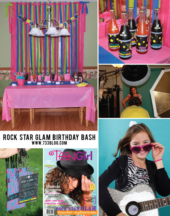 Rock Star Glam Birthday Party with Free Printables