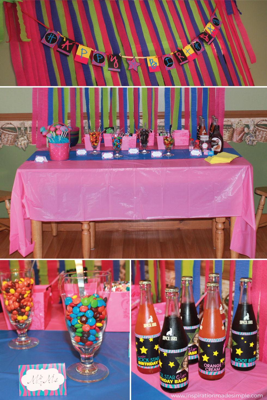 Rock Star Glam Birthday Bash Tween Birthday Party Idea