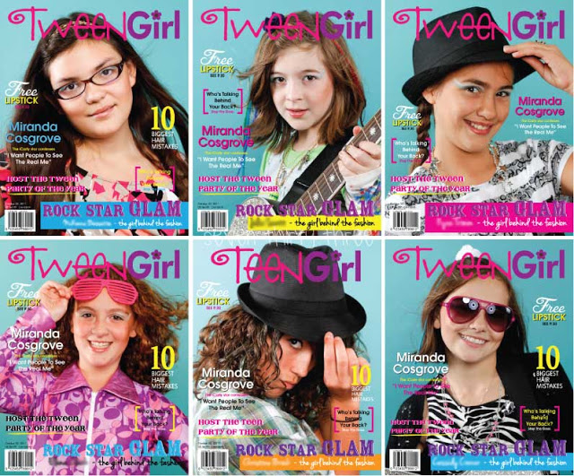 Faux Tween Magazine Cover for a Rock Star Glam Birthday Party
