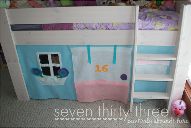 No-Sew Loft Bed Felt Tent Tutorial