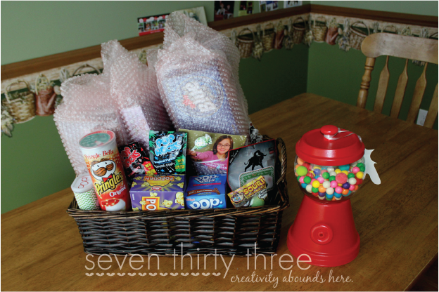 POP Themed Gift Basket