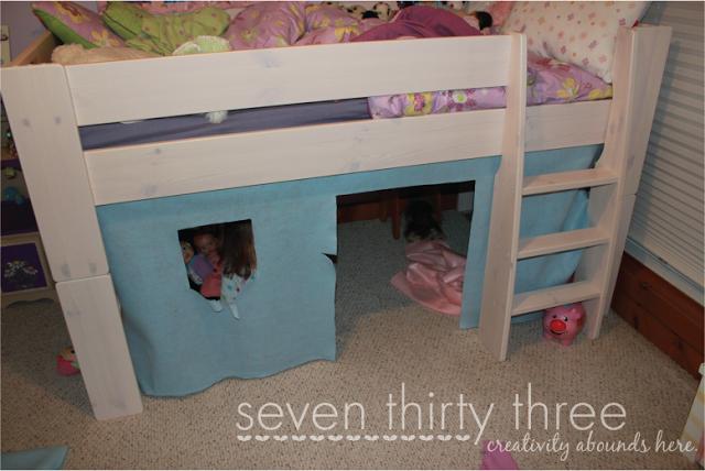 Loft Bed Tent - Step 1