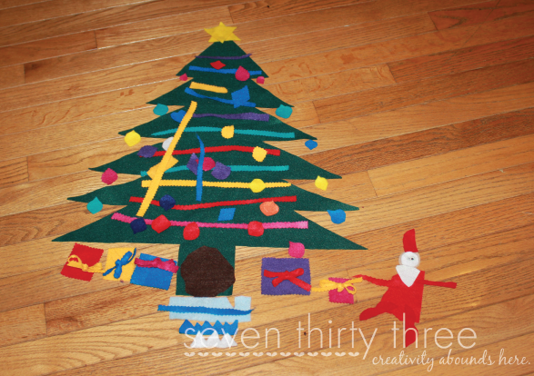 Fun Felt Christmas Tree for Kids