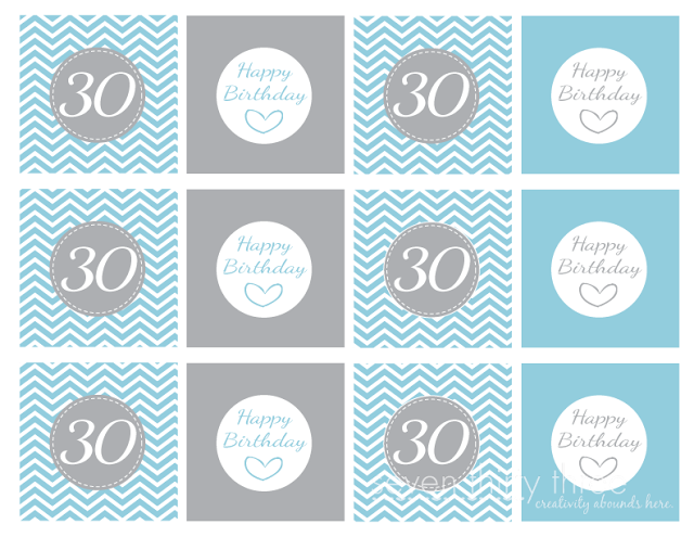 30th Birthday Party Cupcake Toppers