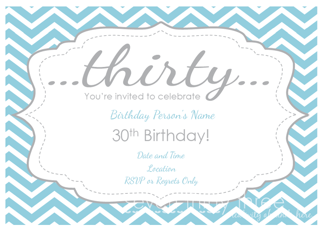 30th Birthday Party Printables