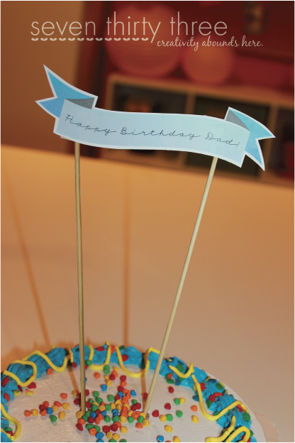 Happy Birthday Cake Topper {Free Printable}