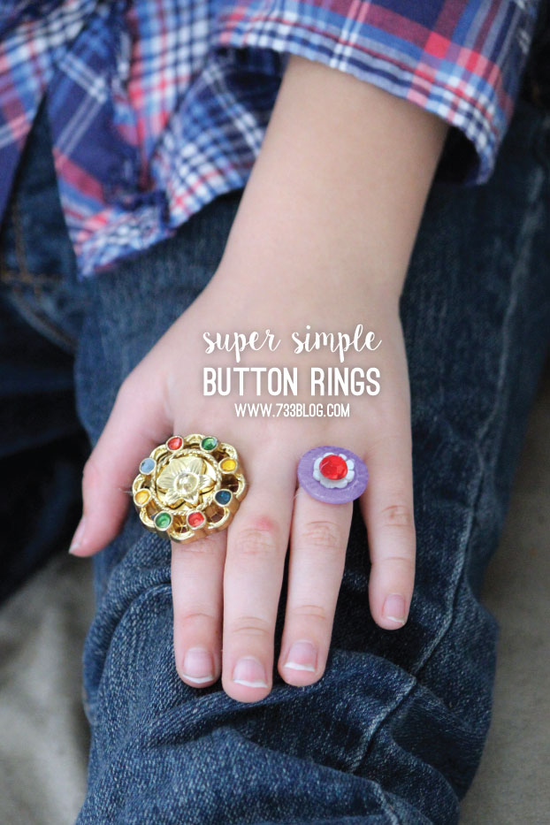 Super Simple Button Rings