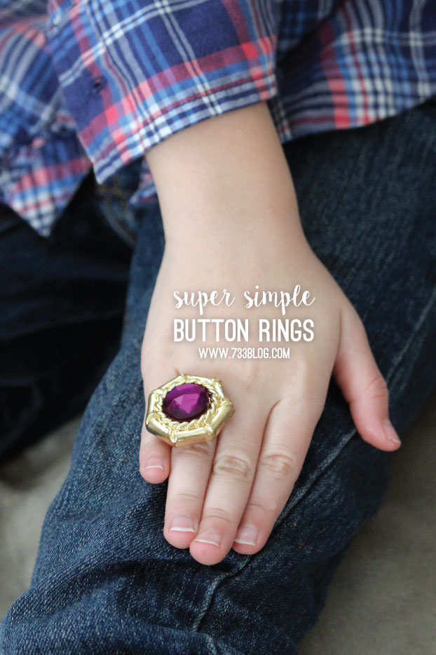 DIY Button Ring Tutorial