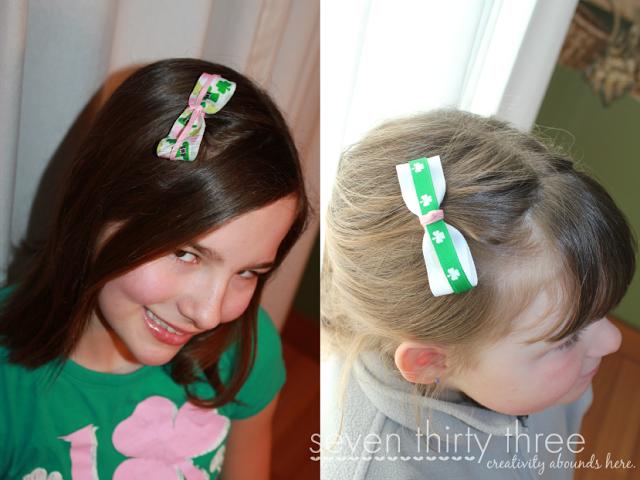 St. Patrick's Day Hair Bows