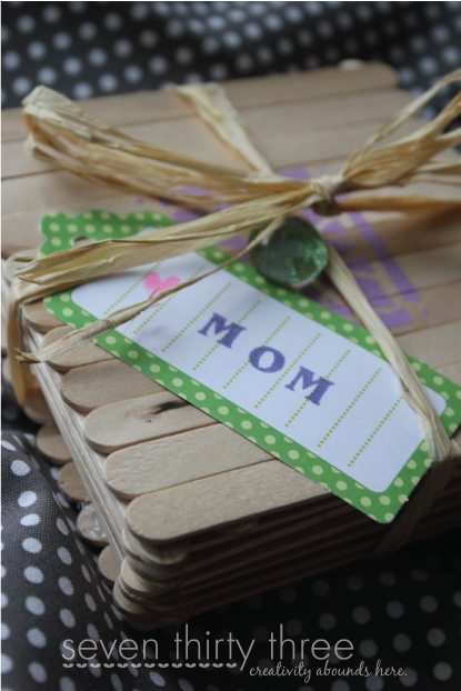 DIY Popsicle Stick Gift Box - Great Kid Craft for Mother's Day!