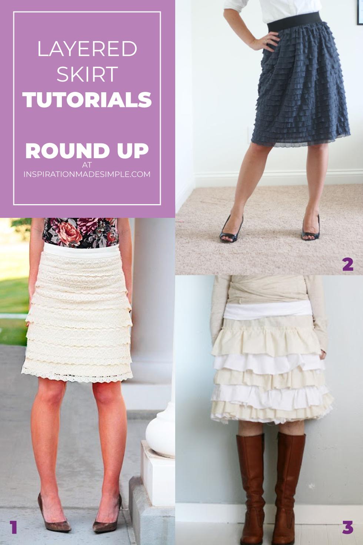 Layered Skirt Tutorials