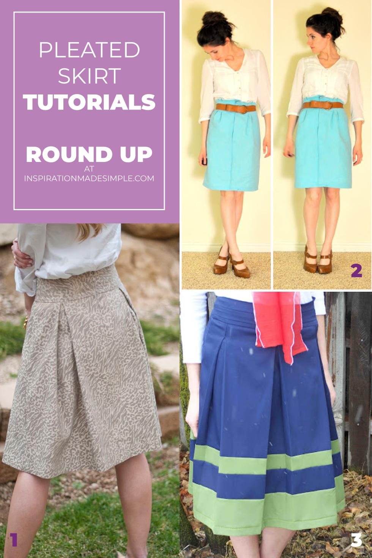 Pleated Skirt Tutorials