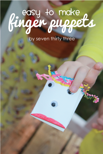 Simple and Fun Finger Puppets