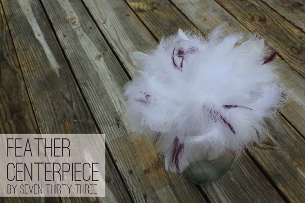 DIY Feather Bouquet and Table Decor