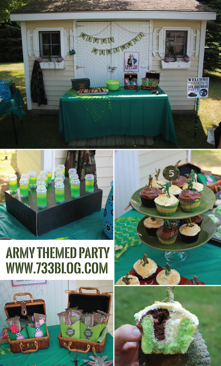 Army Themed Birthday Party Ideas and Free Printables