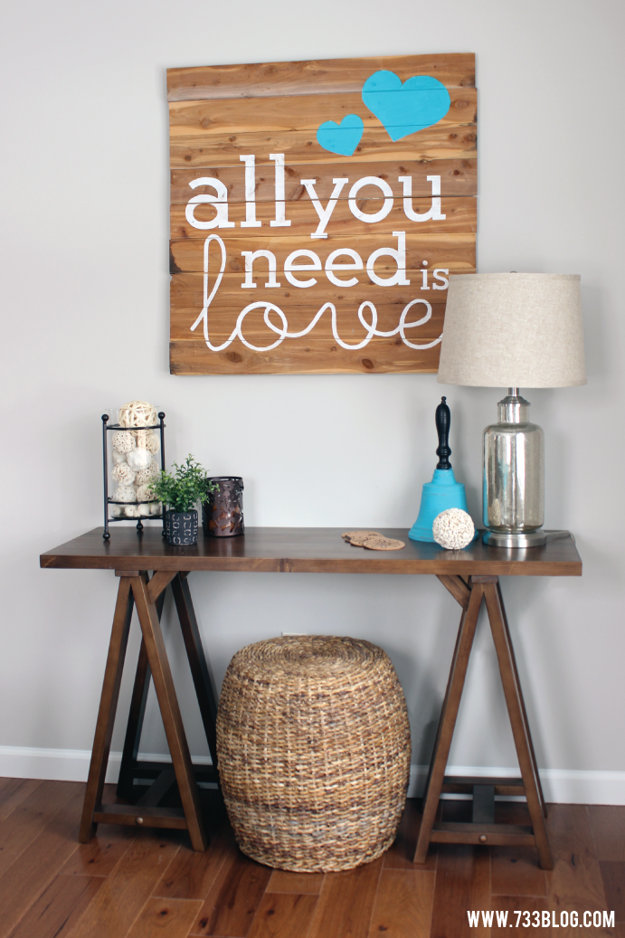 DIY Pallet Wood Sign Tutorial with free printable stencil