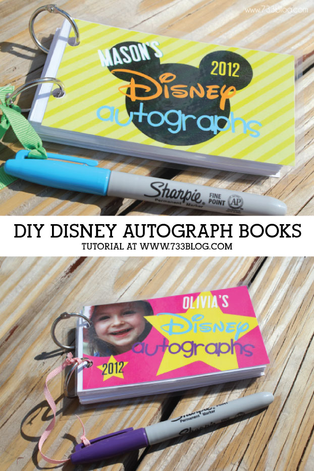 photo relating to Printable Disney Autograph Book known as Do-it-yourself Autograph Guides! - Drive Developed Basic