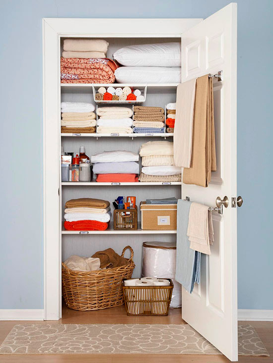 Beautiful Linen Closet from BHG