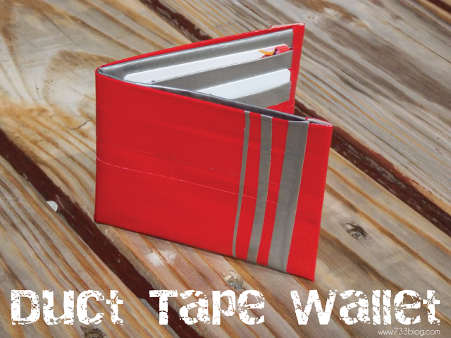 Bright Red Duct Tape Wallet