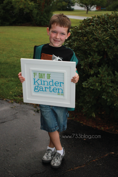 First and Last Day of Kindergarten Signs
