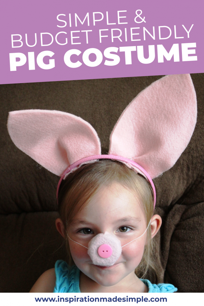 Simple and budget friendly Pig Costume Tutorial