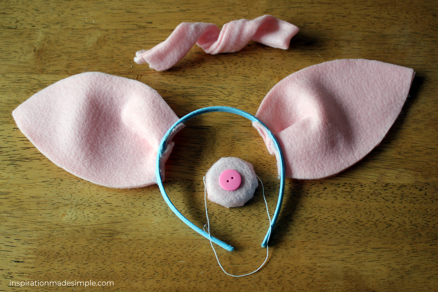 DIY Felt Pig Ears, Nose and Tail